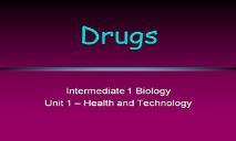 Drugs PowerPoint Presentation