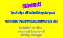 Environments PowerPoint Presentation