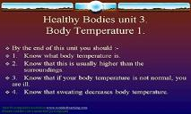 Healthy Bodies PowerPoint Presentation