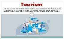 Tourism PowerPoint Presentation