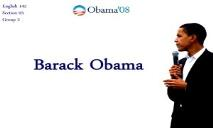 About Barack Obama PowerPoint Presentation