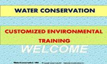 Water Conservation PowerPoint Presentation
