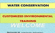 Water Conservation PowerPoint Presentation