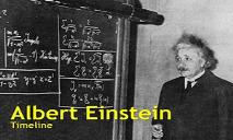 Albert Einstein Biography Timeline PowerPoint Presentation
