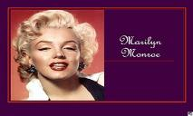 Marilyn Monroe PowerPoint Presentation