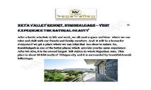 Keya Valley Resort, Kumbhalgarh – Visit & Experience the Natural Beauty PowerPoint Presentation