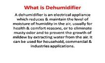 Dehumidifier Works PowerPoint Presentation