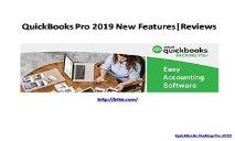 Quickbooks Pro 2019 New Features and Reviews PowerPoint Presentation