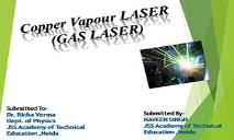Copper Vepor LASER PowerPoint Presentation