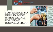 Top things to keep in mind when going for HVAC Installation in NJ PowerPoint Presentation