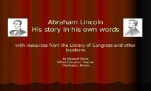 Abraham Lincoln Story PowerPoint Presentation