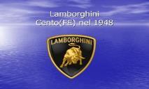 Lamborghini PowerPoint Presentation
