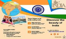 India Brochure for Incredible India PowerPoint Presentation