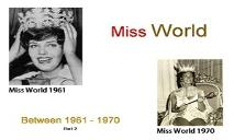 Miss World Winners (Between 1961 to 1970) PowerPoint Presentation