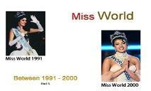 Miss World Winners (Between 1991 to 2000) PowerPoint Presentation