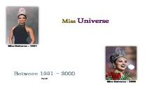 Miss Universe Winners (Between 1991 to 2000) PowerPoint Presentation