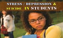 Stress & Depression in Student PowerPoint Presentation