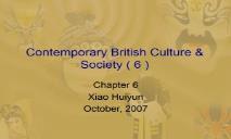 Contemporary British Culture PowerPoint Presentation