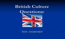 British Culture Questions PowerPoint Presentation