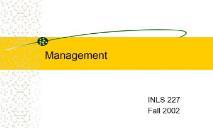 Management PowerPoint Presentation