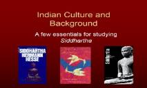 Indian Culture & Hinduism and Buddhism PowerPoint Presentation