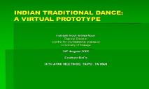 INDIAN TRADITIONAL DANCE PowerPoint Presentation