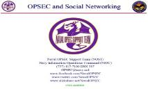 OPSEC and Social Networking PowerPoint Presentation