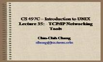TCP IP Networking Tools PowerPoint Presentation