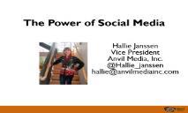 The Power of Social Media PowerPoint Presentation