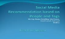Social Media Recommendation based on People and Tags PowerPoint Presentation