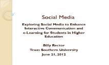 Social Media Information PowerPoint Presentation