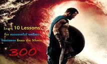 10 Lessions For Online Business by Movie 300 PowerPoint Presentation