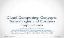 Cloud Computing Concepts PowerPoint Presentation
