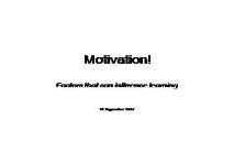 Motivation Information PowerPoint Presentation