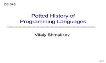 Overview Programming Languages PowerPoint Presentation