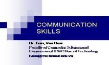 A Communication skills PowerPoint Presentation