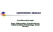 LISTENING SKILLS OVERVIEW PowerPoint Presentation