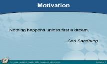 Motivation PowerPoint Presentation