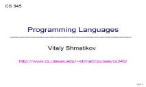 A Programming Languages PowerPoint Presentation
