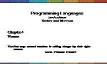 Programming Languages PowerPoint Presentation