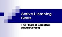 Active Listening Skills PowerPoint Presentation