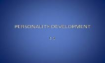 PERSONALITY DEVELOPMENT LEARN PowerPoint Presentation