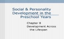 Social & Personality Development PowerPoint Presentation
