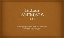Indian ANIMALS PowerPoint Presentation