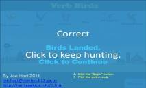 Verb Birds (heritagekids) PowerPoint Presentation