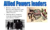 WWI Military and Political Leaders-Brodhead School District PowerPoint Presentation