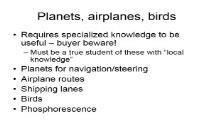 Planets airplanes birds PowerPoint Presentation