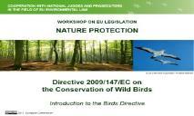 Birds Directive introduction PowerPoint Presentation