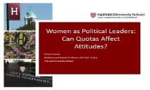 Women as Political Leaders-Can Quotas affect Attitudes PowerPoint Presentation