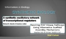 Synthetic Biology PowerPoint Presentation